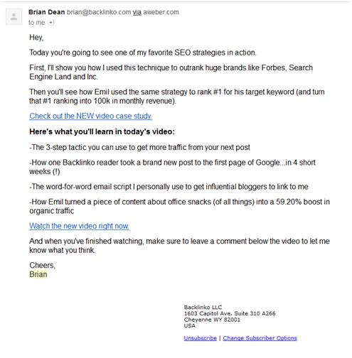 Nonprofit Email Newsletters: Brian Dean Number 1 Video