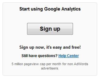 How to signup for Google Analytics.