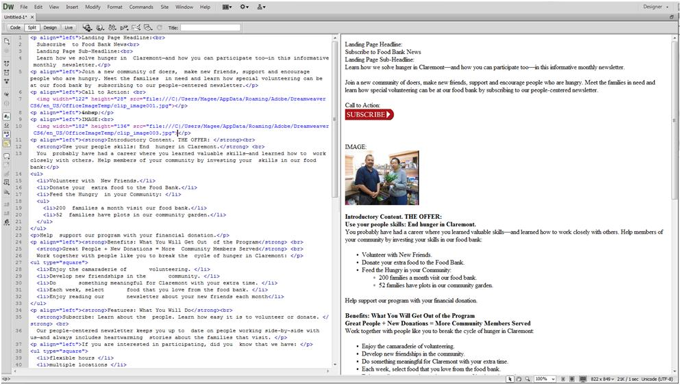How to Create a Website: Dreamweaver Word document to HTML conversion.