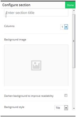 How to Create a Website: Simply select one column in the builder template.