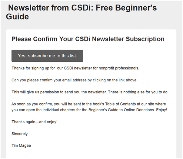 Email Opt-In Confirmation For Beginners Book for Email List Building.