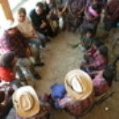 a meeting of elders in a Guatemalan village