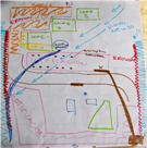 Results of the non profit training workshop participatory mapping exercise.