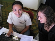 Two women participating in an international training program.